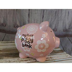 Vtg Federal My First Piggy Bank PIGGY PINK Girls C